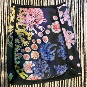 Cynthia Rowley wild sea & floral print mini skirt